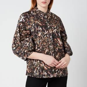 Ted Baker Women's Evrett Lantern Sleeve Shirt - Khaki
