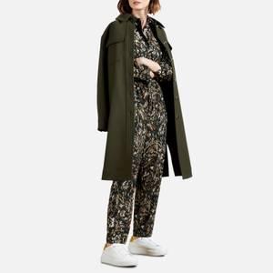 Ted Baker Women's Verili Houndstooth Jacquard Jumpsuit - Khaki