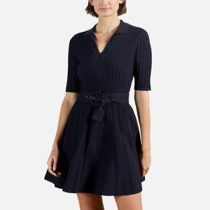 Ted Baker Women's Aleee Knitted Collared Skater Dress - Navy
