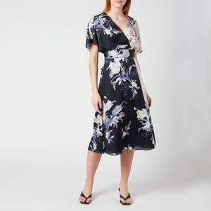 Ted Baker Women's Niita Decadence Wrap Midi Dress - Navy