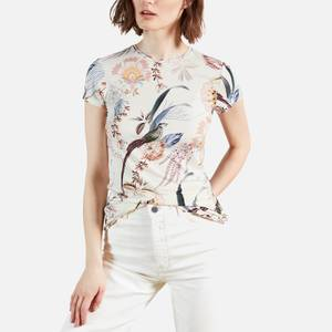 Ted Baker Women's Jerikko Decadence Print Fitted T-Shirt - White
