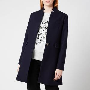 Ted Baker Women's Bianza Straight Tailored Coat - Navy