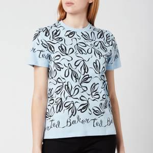 Ted Baker Women's Modana Bow Printed T-Shirt - Pale Blue