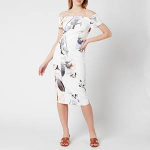 Ted Baker Women's Saidie Vanilla Bodycon Bardot Dress - White