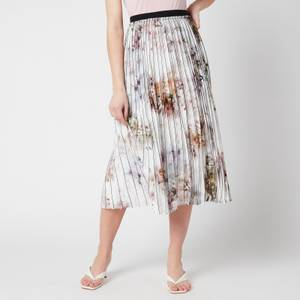 Ted Baker Women's Flavvia Vanilla Printed Pleated Skirt - White
