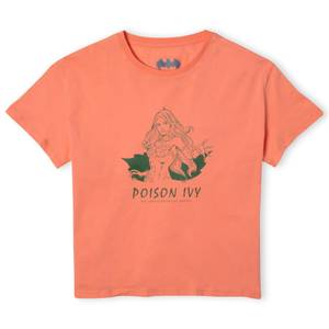 Batman Villains Poison Ivy Women's Cropped T-Shirt - Coral