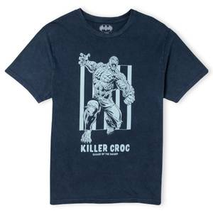 Batman Villains Killer Croc Unisex T-Shirt - Navy Acid Wash
