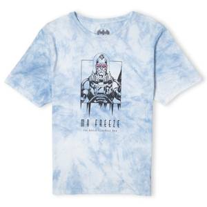 Batman Villains Mr Freeze Unisex T-Shirt - Light Blue Tie Dye