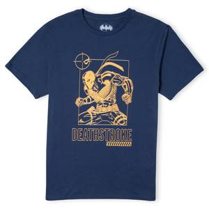 Batman Villains Deathstroke Men's T-Shirt - Navy