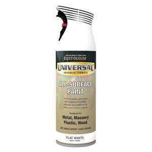Rust-Oleum Universal Flat White Spray Paint - 400ml