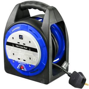 Masterplug 4 Socket Cable Reel 15m Blue