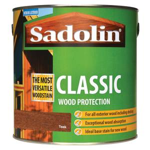 Sadolin Classic Woodstain - Teak - 2.5L