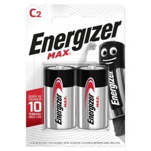 Energizer MAX Alkaline C Batteries - 2 Pack