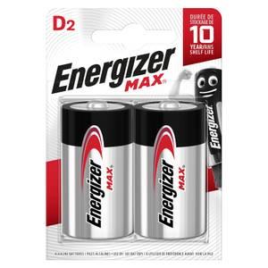 Energizer MAX Alkaline D Batteries - 2 Pack