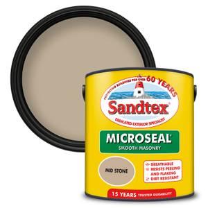Sandtex Ultra Smooth Masonry Paint - Mid Stone - 2.5L