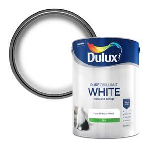 Dulux Pure Brilliant White - Silk Emulsion Paint - 5L