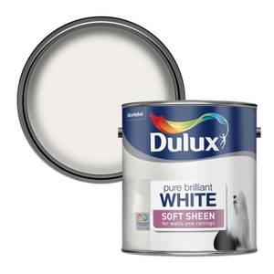 Dulux Pure Brilliant White - Soft Sheen Emulsion Paint - 2.5L