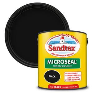 Sandtex Ultra Smooth Masonry Paint - Black - 2.5L