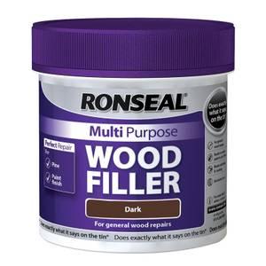 Ronseal Multipurpose Wood Filler Tub - Dark - 465g