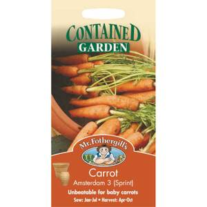 Mr. Fothergill's Carrot Amsterdam 3 Sprint (Daucus Carota) Seeds