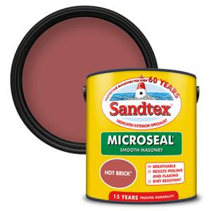 Sandtex Ultra Smooth Masonry Paint - Hot Brick - 2.5L