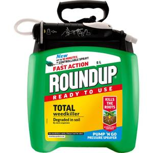 Roundup Total Ready To Use Pump N Go Weedkiller - 5L