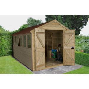 12x8ft Forest Pressure Treated Tongue & Groove Apex Shed