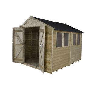 10x8ft Forest Tongue & Groove Apex Wooden Shed