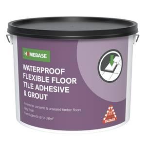 Homebase Adhesive & Grout Concrete Grey - 10L