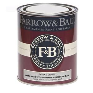 Farrow & Ball Interior Wood Primer Undercoat - Mid Tones - 750ml