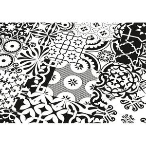 Black and White Laminate Flooring Sample Board