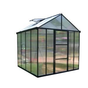 Palram Glory Anthracite Greenhouse - 8 x 8ft