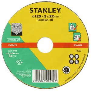 Stanley 125mm Stone Cutting Disc Pack - STA32053-QZ