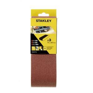Stanley Belt Sander Belts 75x457 Mixed - STA33116-XJ