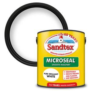 Sandtex Ultra Smooth Masonry Paint - Pure Brilliant White - 2.5L
