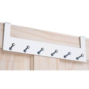 Over the Door Hook Rail - Polished Chrome - 6 Hooks