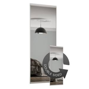 Duo Sliding Wardrobe Door Mirror with Aluminium Frame (W)762mm