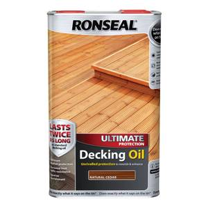 Ronseal Ultimate Protection Decking Oil Natural Cedar - 5L