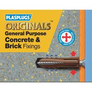 General Purpose Concrete Brick Fixings - 50 Pack