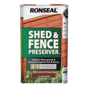 Ronseal Shed & Fence Preserver - Autumn Brown - 5L