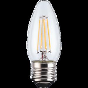 LED Filament Candle 4W E27 Clear Light Bulb