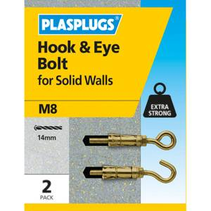 Plasplugs Hook & Eye Bolt M8