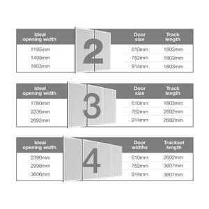 Ellipse Aluminium Sliding Door Track Set (W)2745mm