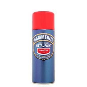 Hammerite Red - Exterior Smooth Aerosol Paint - 400ml