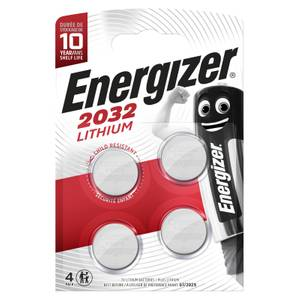 Energizer 2032 Lithium Coin Battery - 4 Pack