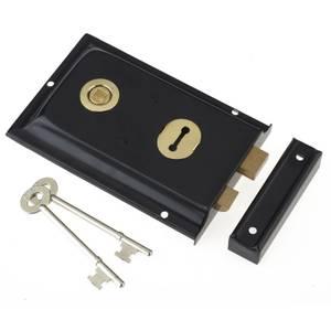 Yale P334 Rim Lock - Black