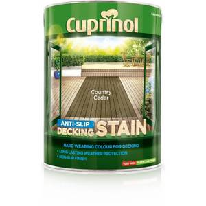 Cuprinol Anti-Slip Decking Stain - Country Cedar - 5L