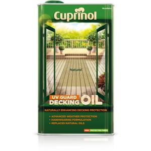 Cuprinol UV Guard Decking Oil - Natural - 5L