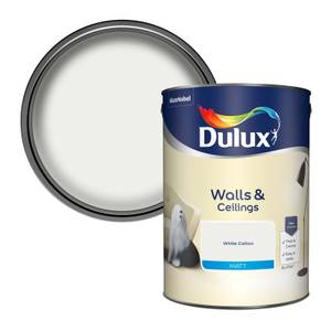 Dulux White Cotton - Matt Emulsion Paint - 5L