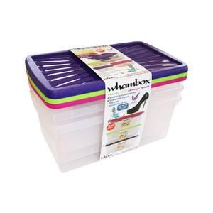 Whambox Set of 3 Handy Storage Boxes - 9L